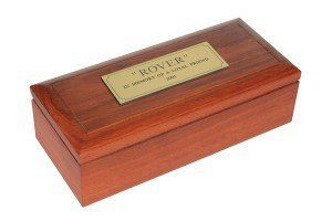 Jarrah container for pet's ashes