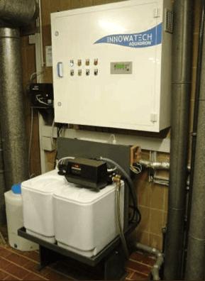 Legionella Control at a Hospital using the Aquadron