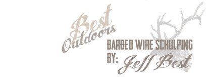 best outdoors barbed wire sculpting by: Jeff Best