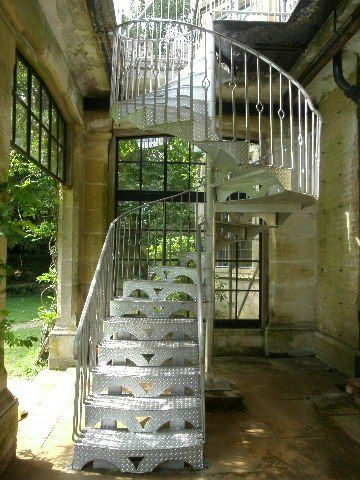 spiral steel safety staircase