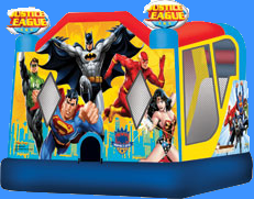 Justice League Inflatable - Batman, Superman, Flash, Wonder Woman, Green Lantern.