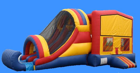 Bounce House and Dual Lane Slide Combo