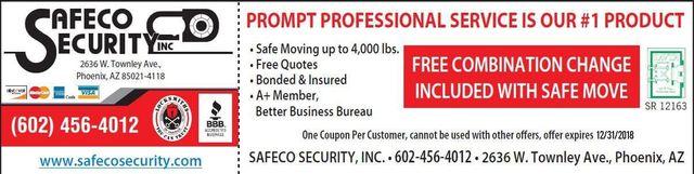 Lockout & Safe Company - Pheonix, AZ - Safeco Security