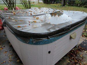Broken saturated Hot tub cover