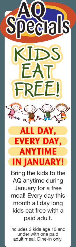 kids eat free, free kids menu, kids night