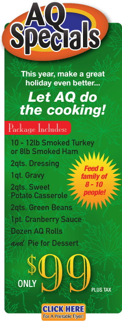 holiday dinner cater