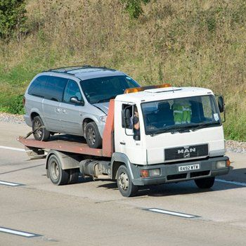 vehicle being towed