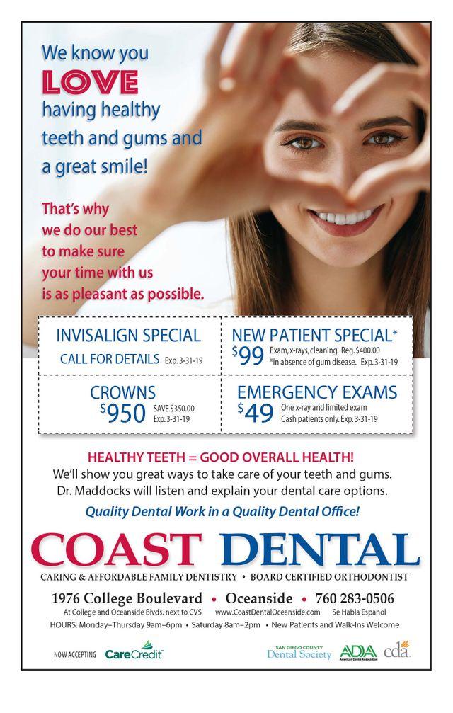 Promotions | Oceanside, California | Coast Dental