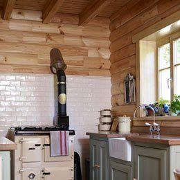 Scandinavian log house