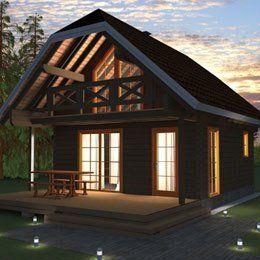 Custom designed log cabin
