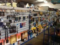 Interior of our one-stop shop for gardening supplies