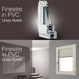 delle guide in PVC e una finestra