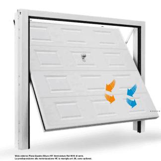 una porta bianca di un garage