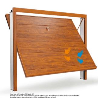 porta  legno di un garage