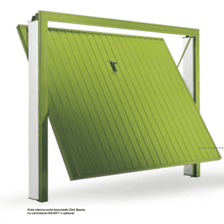 porta verde di un garage