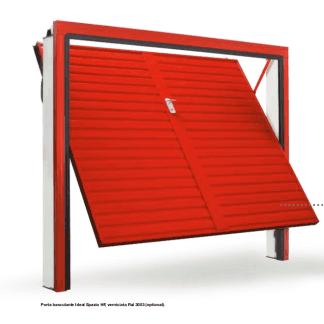porta rossa di un garage