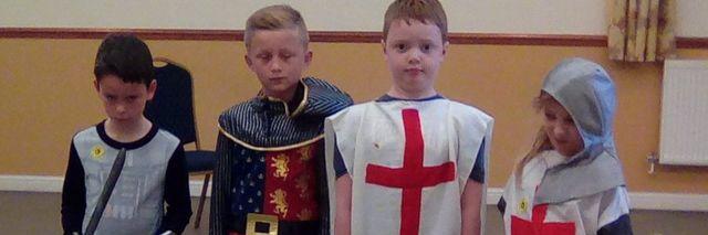 Children acting King Arthur