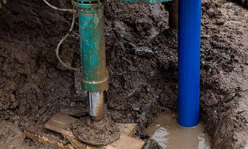 L'installazione dell'involucro nel pozzo