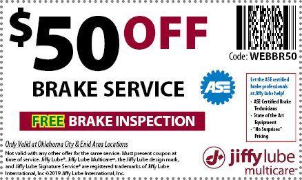 Jiffy lube 50% off coupon
