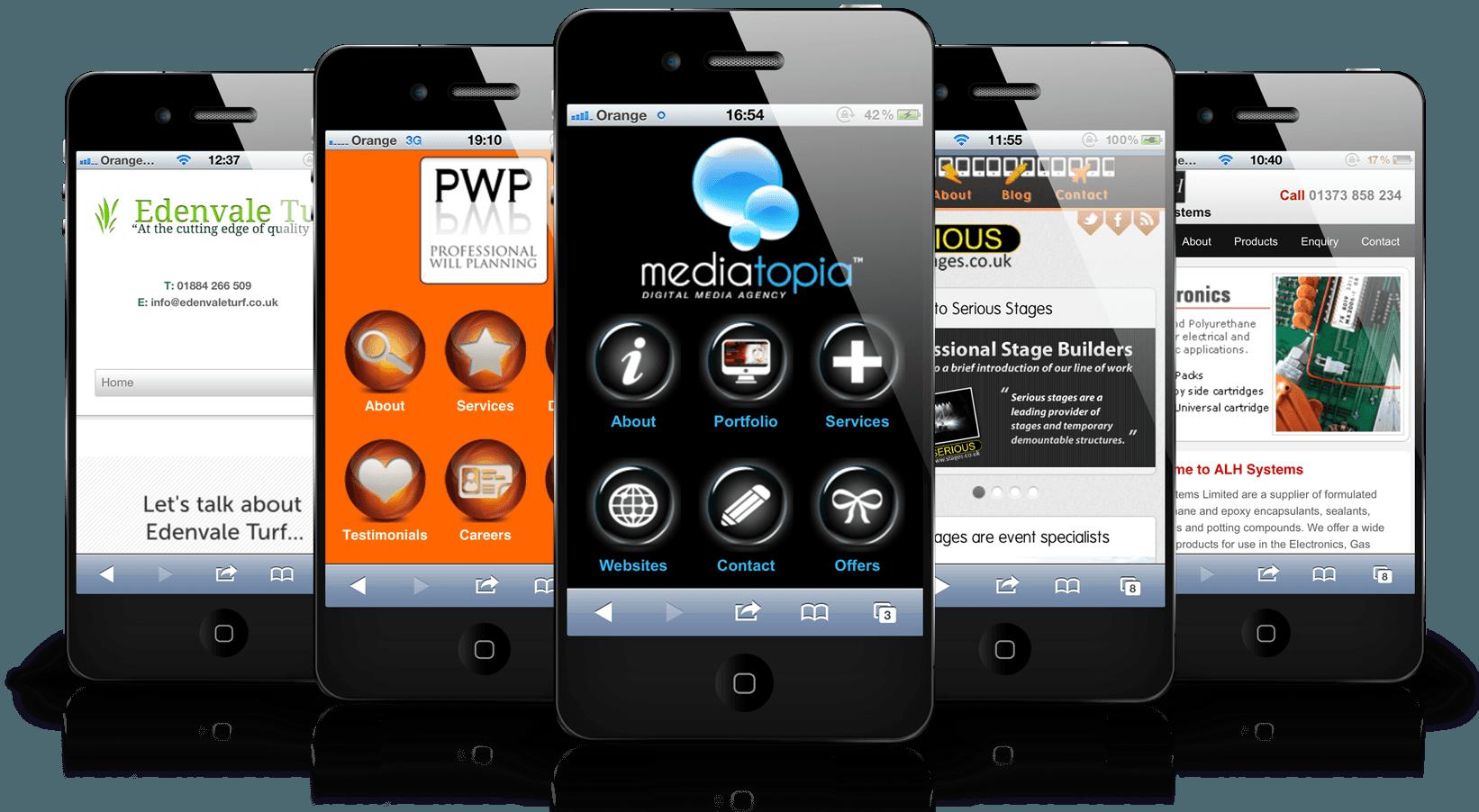 mobile website image