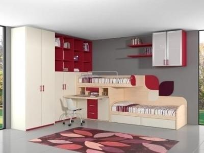 interno cameretta interno giorno armadio tavolo sedia letto