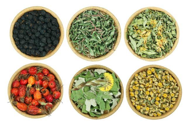 frutta, fiori ed erbe essiccati