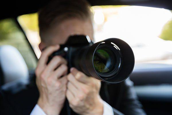 Prendendo foto con obiettivo zoom