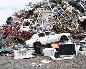 Car recycling service - Cookstown, Northern Ireland - Rooney Metals - Scrap