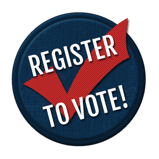 #VoteSeminole image of Register to Vote graphic on the home page of VoteSeminole.org, the official website of the Seminole County Supervisor of Elections Office.  For information, call 407.585.8683