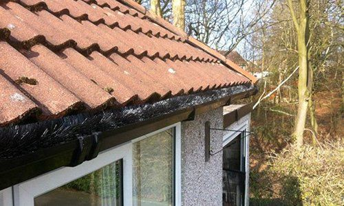 newly installed tiled roofing