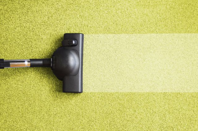 Vacuum cleaner cleaning a carpeted floor in Anchorage