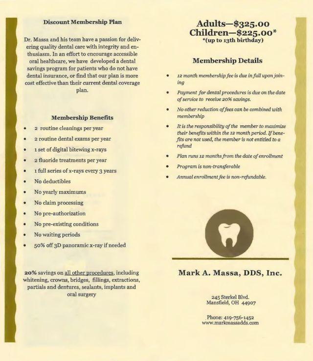 Dental Discount Membership Plan