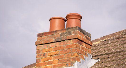 newly installed chimney