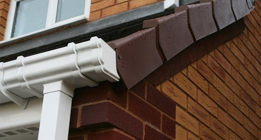 white coloured gutter