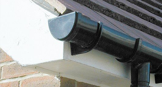 black coloured gutter