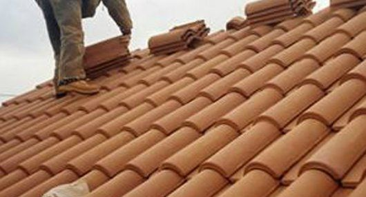 installation of roof tiles