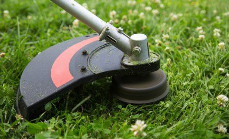 Grass strimming