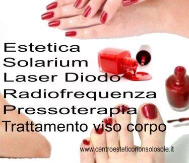 elenco dei trattamenti estetici del centro estetico non solo sole