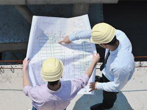 engineers in building survey process