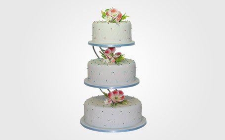 Custom designed wedding cakes