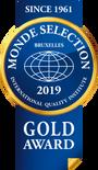 2019 Monde Selection Gold Award
