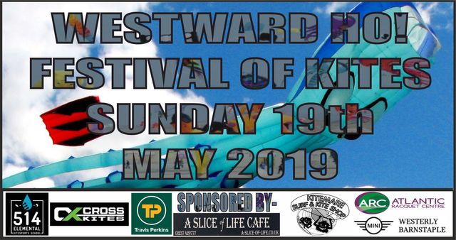 The Westward Ho! Festival Of Kites is on the main beach in
