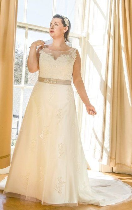 Quality Beautiful plus size wedding dress