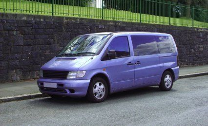 violet coloured van