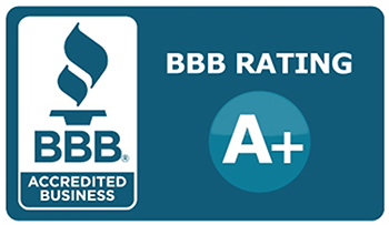 Better Business Bureau logo with A+ ranking