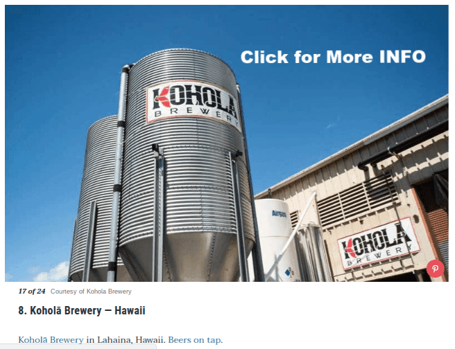 Best local Breweries in the US Kohola Brewery Lahaina Maui beer