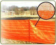 Tree Save, Orange Woven Barrier Fence is available in 4' X 100', 4' X 300' Master Rolls & 4' X 100' with pre-attached 5' Hard wood stakes