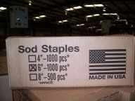Sod Staples Sod Pins Buy Direct from Manufacturer