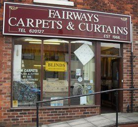 Curtain fitters - Preston, Lancashire - Fairways Carpets - Shopfront.