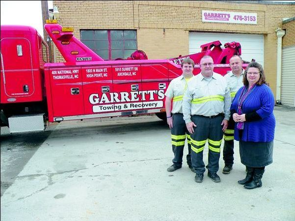 garrets towing team in Thomasville